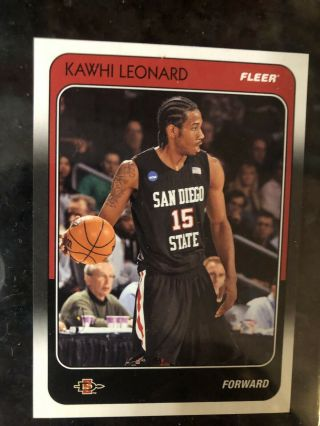 2011 - 12 Fleer Retro Kawhi Leonard Rookie Rc 88 - Kl Sdsu Non Auto Xrc Raptors Hot