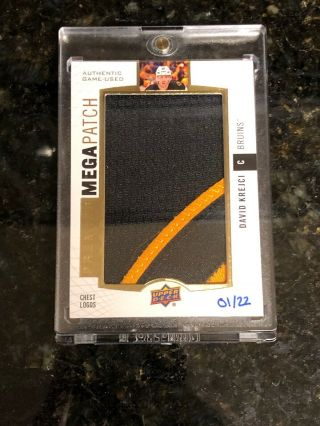 2017 - 18 Ud Premier David Krejci Mega Patch Chest Logos 1/22