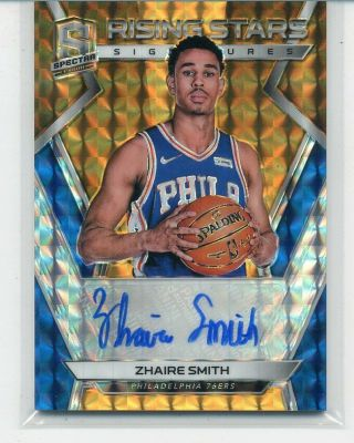 Zhaire Smith 2018 - 19 Spectra Rising Stars Rc Auto Neon Orange Prizm 3/5