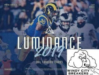Baltimore Ravens 2019 Panini Luminance Football 12 - Box Full Case Break 1