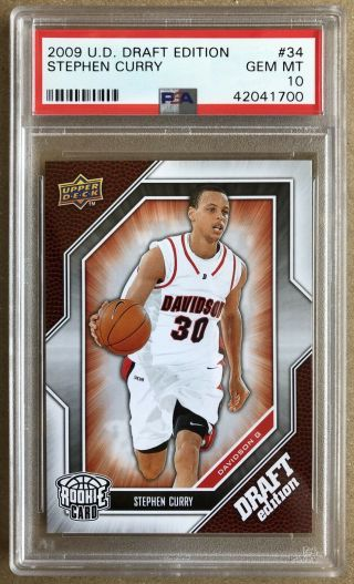 Stephen Curry 2009 - 10 Upper Deck Ud Draft Edition Rc 34 - Psa 10 Gem