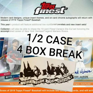 Atlanta Braves 2019 Topps Finest Baseball 1/2 Case 4 Box Live Break 10