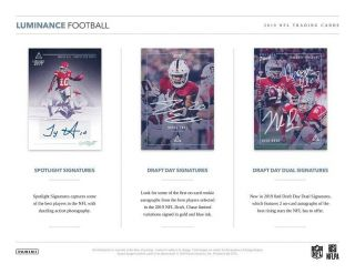 Washington Redskins 2019 Panini Luminance Football 6 Box Half Case Break 2