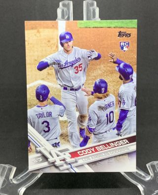 Cody Bellinger 2017 Topps Update Variation Ssp High Fives Rc Us50 Cmp025557
