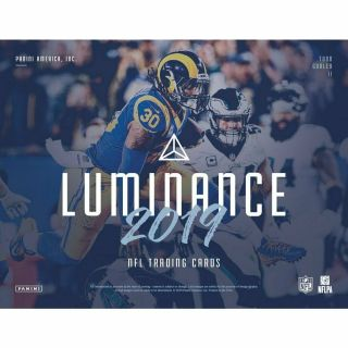 York Giants - 2019 Panini Luminance Football 12/box Full Case Break