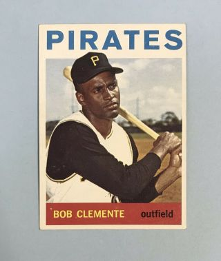 1964 Topps Roberto Clemente 440 Pirates Hof No Creases