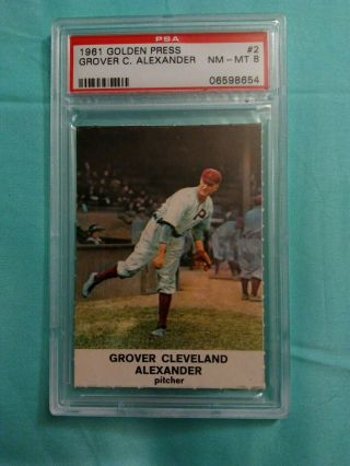 1961 Golden Press 2 Grover C.  Alexander Psa 8