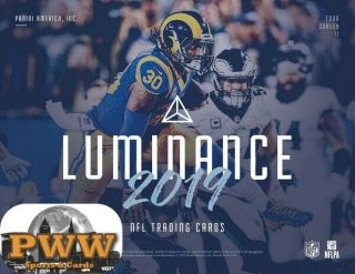 Chicago Bears 2019 Panini Luminance Football 6 Box Case Break 1