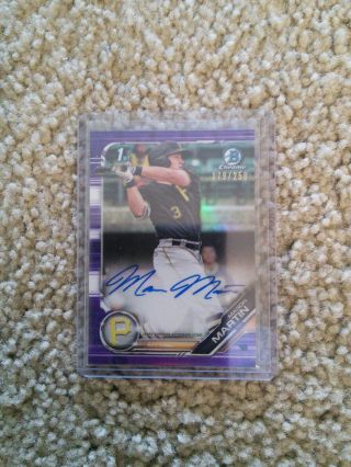 2019 Bowman Chrome Mason Martin Auto 179/250 Purple