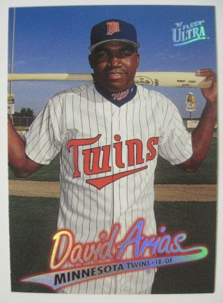 1997 Fleer Ultra Baseball Card 518 David Arias Ortiz Rc Rookie Minnesota Twins