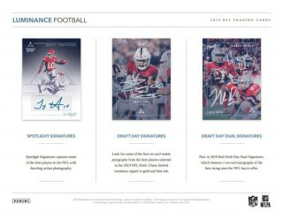 England Patriots - 2019 Luminance Football 12 - Box Case Team Break
