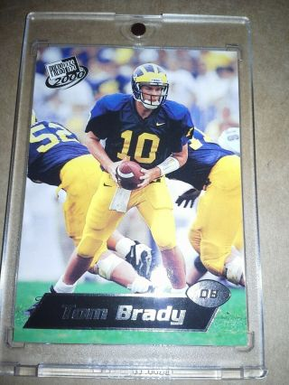 2000 Press Pass Tom Brady Silver Zone Rookie Card 37