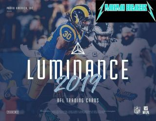 Seattle Seahawks 2019 Luminance Football 12 - Box Case 1break 1 Markman