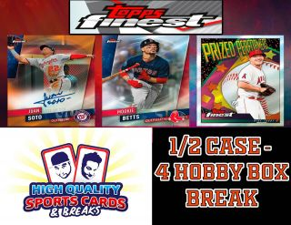 York Mets 2019 Topps Finest - 1/2 Case 4 Hobby Box Break 5