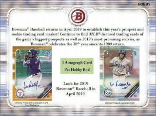 San Diego Padres 2019 Bowman Hobby Baseball 6 Box Half Case Break 12