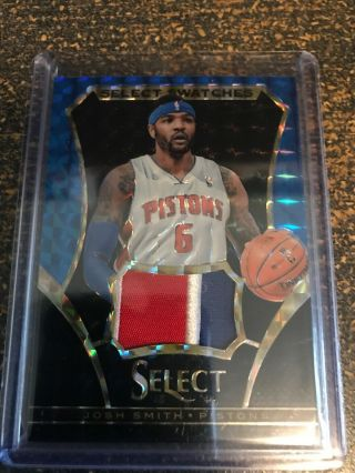 2013 - 14 Select Josh Smith Select Swatches Patch 1/1 Pistons