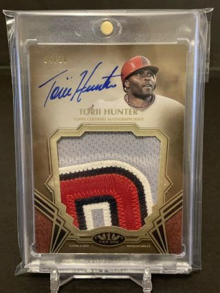 2019 Torii Hunter Tier One Prodigious Game Patch Auto 4/10 Angels