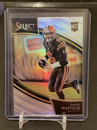 2018 Select Baker Mayfield Field Level Silver Prizm Rookie Card Cleveland Browns