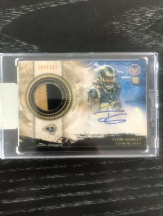 2015 Topps Football Todd Gurley Autograph Rookie Patch Rc 154/227 Rams