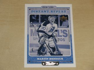 1999 - 00 Upper Deck Retro Distant Replay Level 2 Dr2 Martin Brodeur 019/100