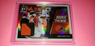 "2018 Optic Football Baker Mayfield "" Rookie Phenom /50 "" Patch Prizm - Cleveland"