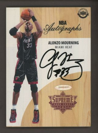 2016 - 17 Ud Supreme Hard Court Alonzo Mourning Auto Uda W/ Box