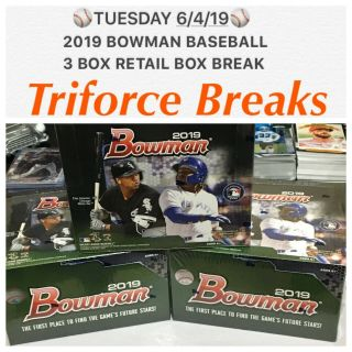 Tampa Bay Rays 2019 Bowman Baseball 3 Box Retail Break Mlb Wander Franco ?