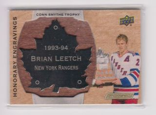 Brian Leetch 2018 - 19 Upper Deck Engrained Honorary Engravings (/100) - Rangers