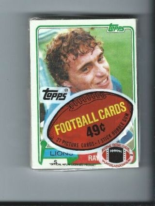 1981 Topps Football Cello Pack.