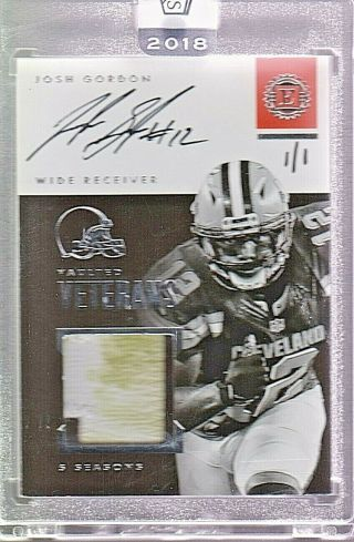 2019 Panini Honors Josh Gordon 2016 Encased Silver On Card Auto