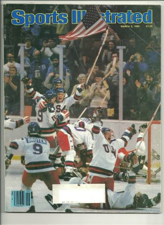 Sports Illustrated March 3,  1980 Miracle On Ice Usa Olympic Hockey Gold Medal