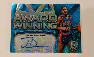 2018 - 19 Panini Spectra Joe Dumars Award Winners Blue Scope Auto 20/60 Detroit