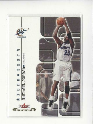 2001 - 02 Fleer Maximum Floor Score 12 Michael Jordan Wizards