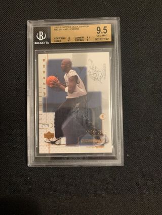 2001 - 02 Upper Deck Ovation 90 Michael Jordan Wizards Bgs 9.  5 (10 9.  5,  9.  5,  9)