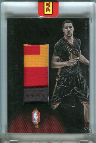 2014 - 15 Noir Klay Thompson Chinese Year Game Dated Patch Black Box D 1/1