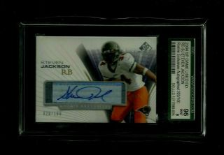 Steven Jackson Sp Game Rookie Exclusives Auto /100 Sgc 9 Rams Star Rb