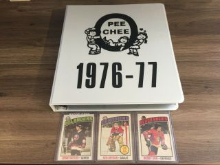 1976 77 Opc O - Pee - Chee Complete Set 396 Cards Ex - Mt,  Trottier Williams Rookie
