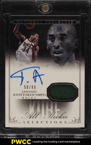 2013 National Treasures Selections Giannis Antetokounmpo Rc Auto Patch /99 (pwcc)