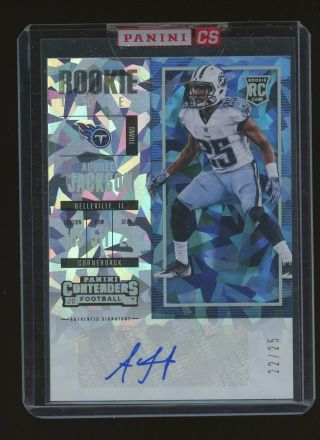 2017 Contenders Cracked Ice Rookie Ticket Adoree Jackson Titans Rc Auto /25