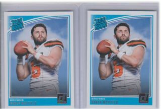 (2) 2018 Donruss Baker Mayfield Rated Rookie Rc 303