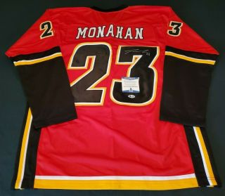 Sean Monahan Calgary Signed Jersey Bas Beckett 100 Authentic Auto