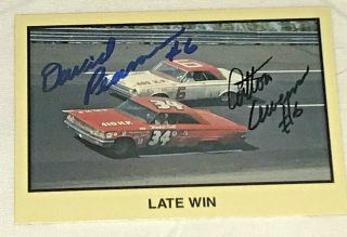 David Pearson Cotton Owens Masters Of Racing Nascar Vintage 182 Autographed Card