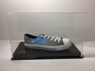Shoe Display Case Single Up To Size 17 Black Base 85 Uv Filtering Acrylic
