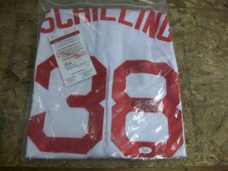 Autographed/signed Curt Schilling White Red Sox Baseball Jersey Jsa Auto