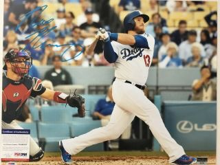 Max Muncy Dodgers Star Signed 16x20 Photo Psa / Dna