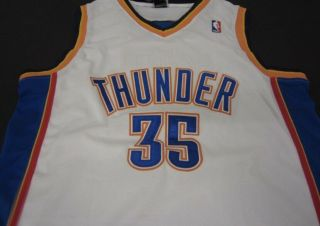 Kevin Durant Signed Oc Thunder Jersey With