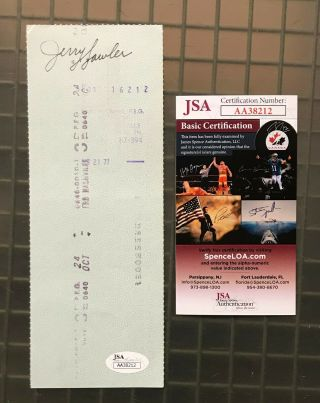 """Jerry """" The King """" Lawler Wwf Signed Autographed Auto Check Jsa"""