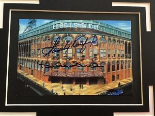 """Matted To 8x10 Koufax Snider Autographed Stadium """" Certified"""