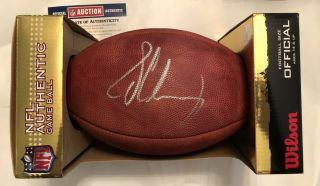 Nfl Authentic Football Signed By Texans Jadeveon Clowney