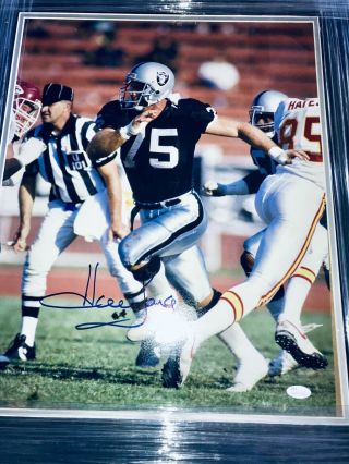 Howie Long Signed Autographed Oakland Raiders Framed 16x20 Photo - Jsa Auth